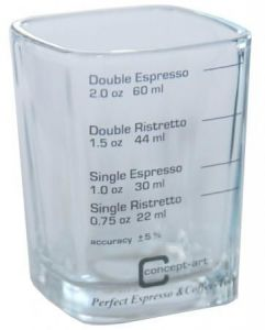 SHOT GLASS MIARKA DO ESPRESSO Z PODZIAŁKĄ 60 ML