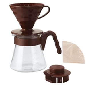 Zestaw Hario V60 Pour Over Kit Brown 700ml - drip + serwer + filtry